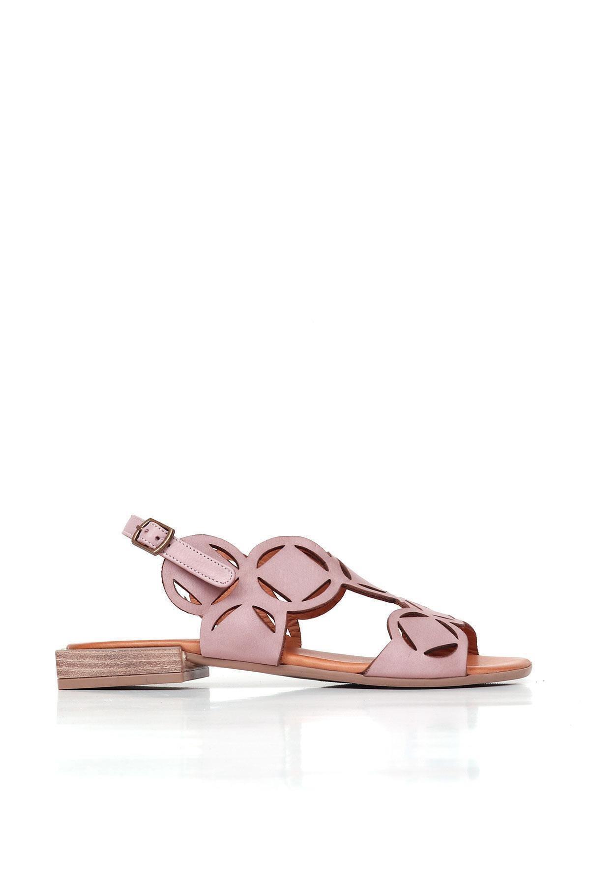 BUENO Shoes Kemerli Hakiki Deri Kadın Düz Sandalet 20wq5601 1