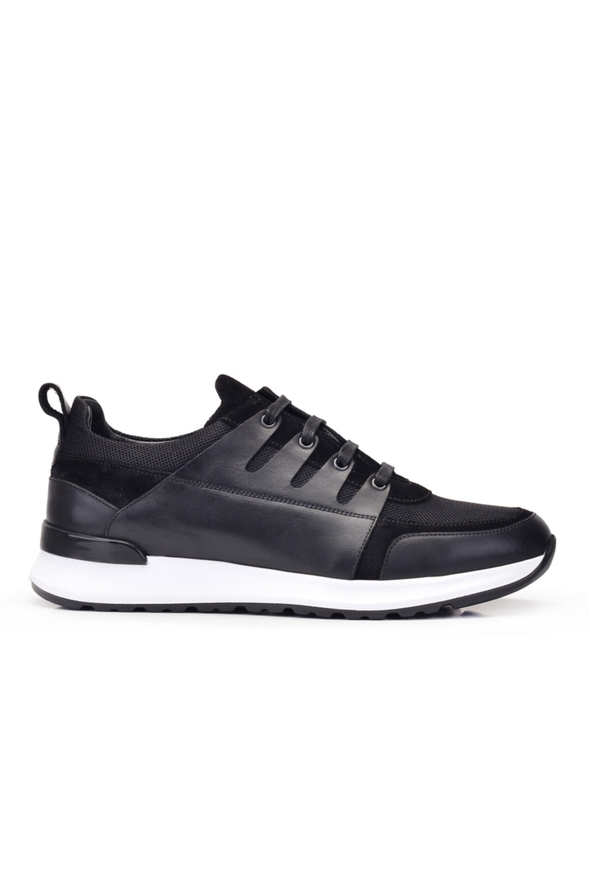 Nevzat Onay Hakiki Deri Siyah Sneaker Erkek Ayakkabı -11783- 1