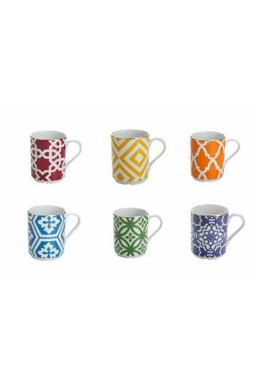 Porland Morocco Karışık Renk Kupa Seti 6 Parça 04a+p021271