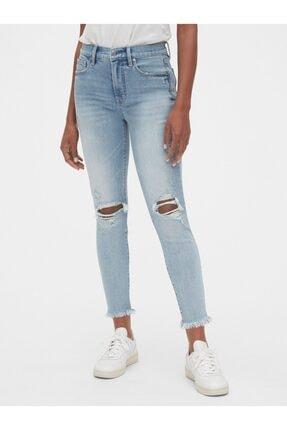 GAP High Rise Skinny Ankle Jean Pantolon