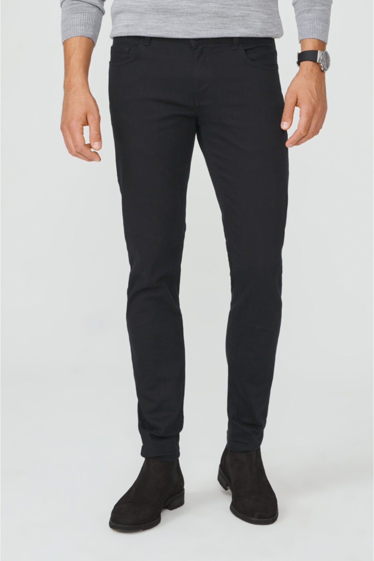 Avva Erkek Siyah 5 Cepli Slim Fit Pantolon A02y3055 2