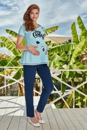 Berrak Mavi Bayan Hamile Pijama Takımı 305