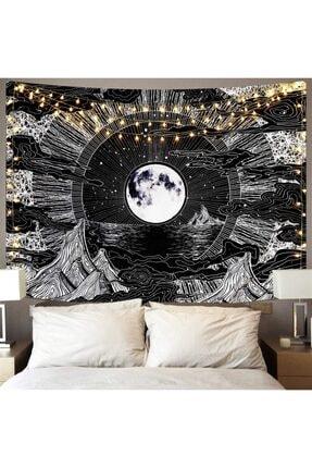 Trendiz Moon Siyah Duvar Halısı 75x100 W20011