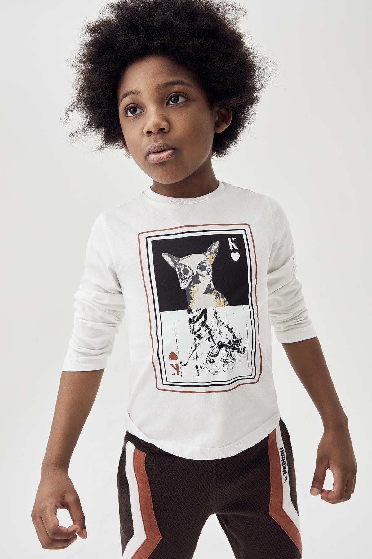 Nebbati Erkek Çocuk Ekru T-shirt 20fw0nb3518 1