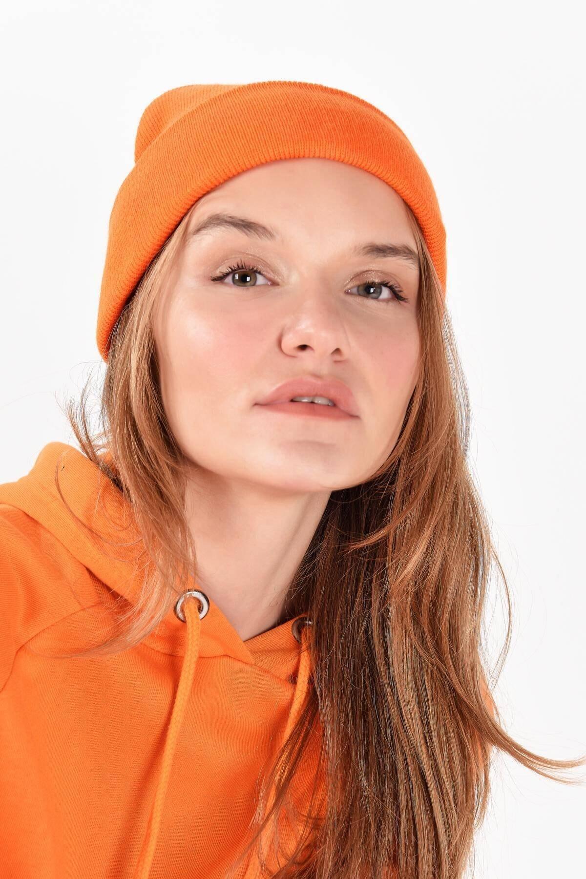Addax Kadın Turuncu Şapka Şpk12835 - Aks -e5 ADX-0000020470 1