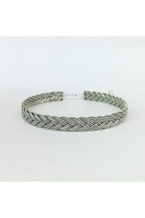 Tmt Silver Mardin Hasırı Örgü Gümüş Bilezik