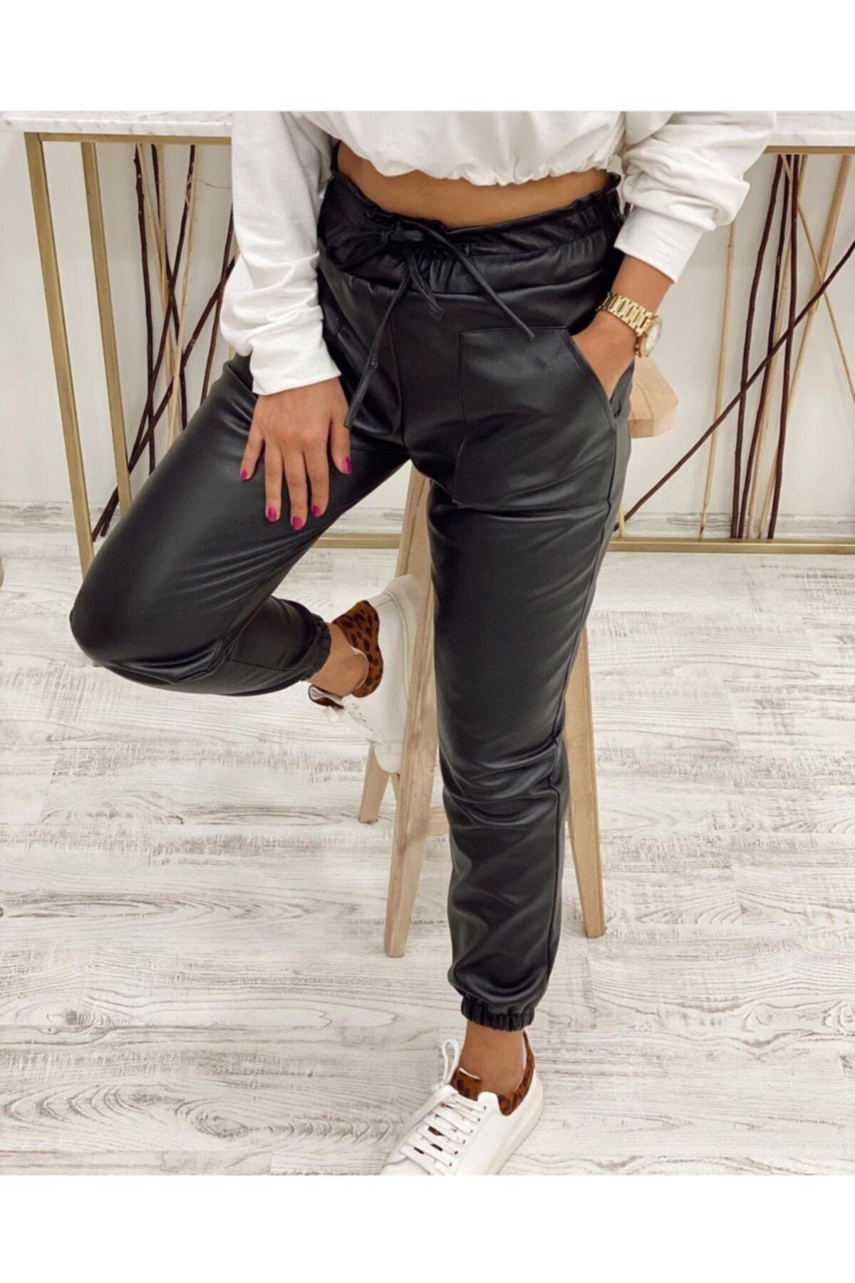 Büşra Butik Deri Pantolon 1