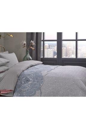 English Home Urban Damask Çift Kişilik Çok Amaçlı Yatak Örtüsü 200x220 Cm Mavi