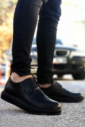 BIG KING Siyah Bağcıklı Erkek Klasik Ayakkabı