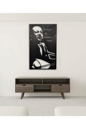 Hediyedoldur Neşet Ertaş 35x50 Lazer Kesim Siyah Ahşap Tablo Dekorasyon Salon Ofis Şık Tasarım Leaf Dekoratif