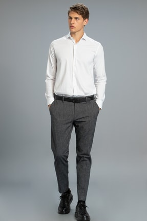 Lufian Sucub Smart Chino Pantolon Slim Fit Siyah