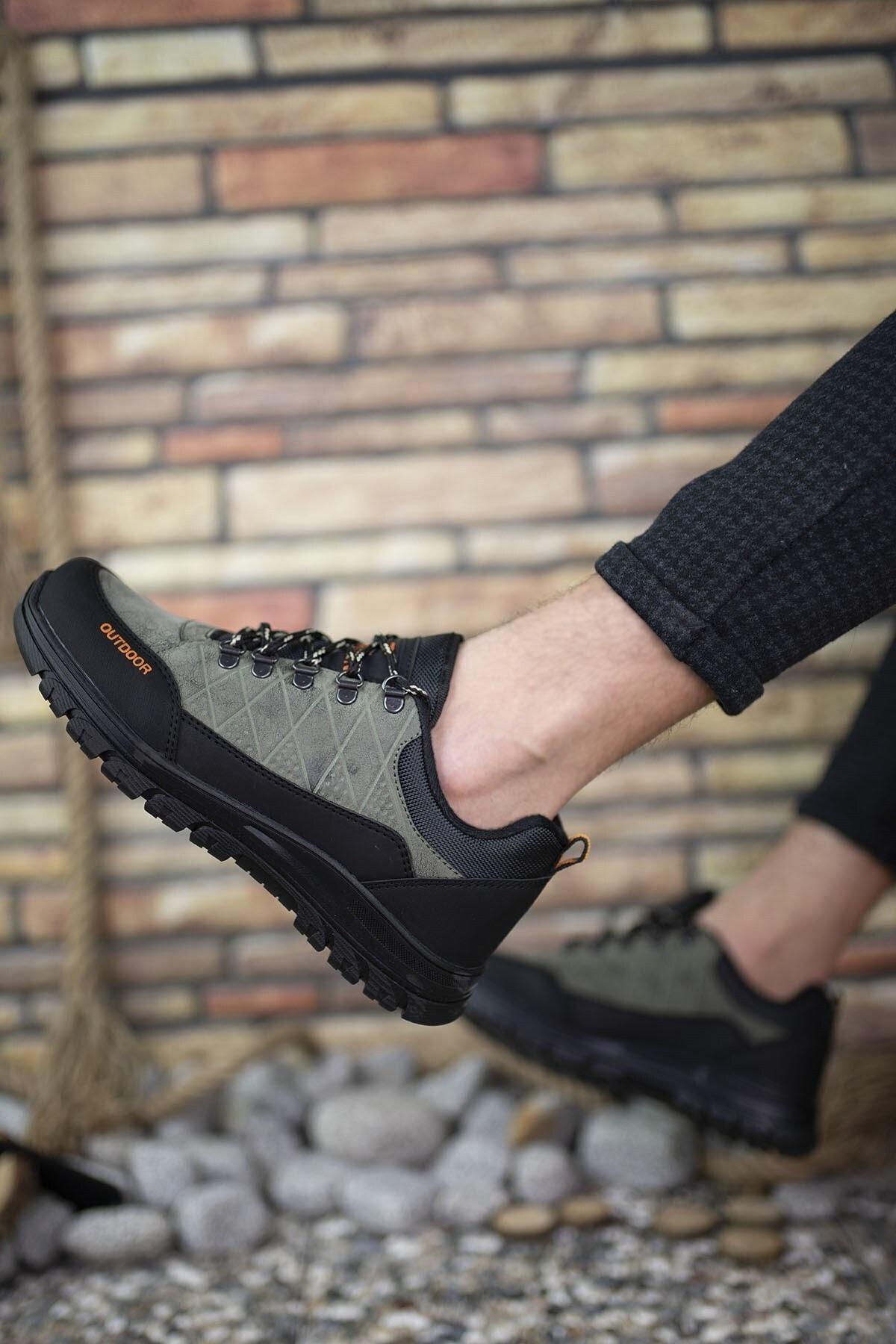 Riccon Haki Siyah Erkek Trekking Ayakkabı 0012114 2