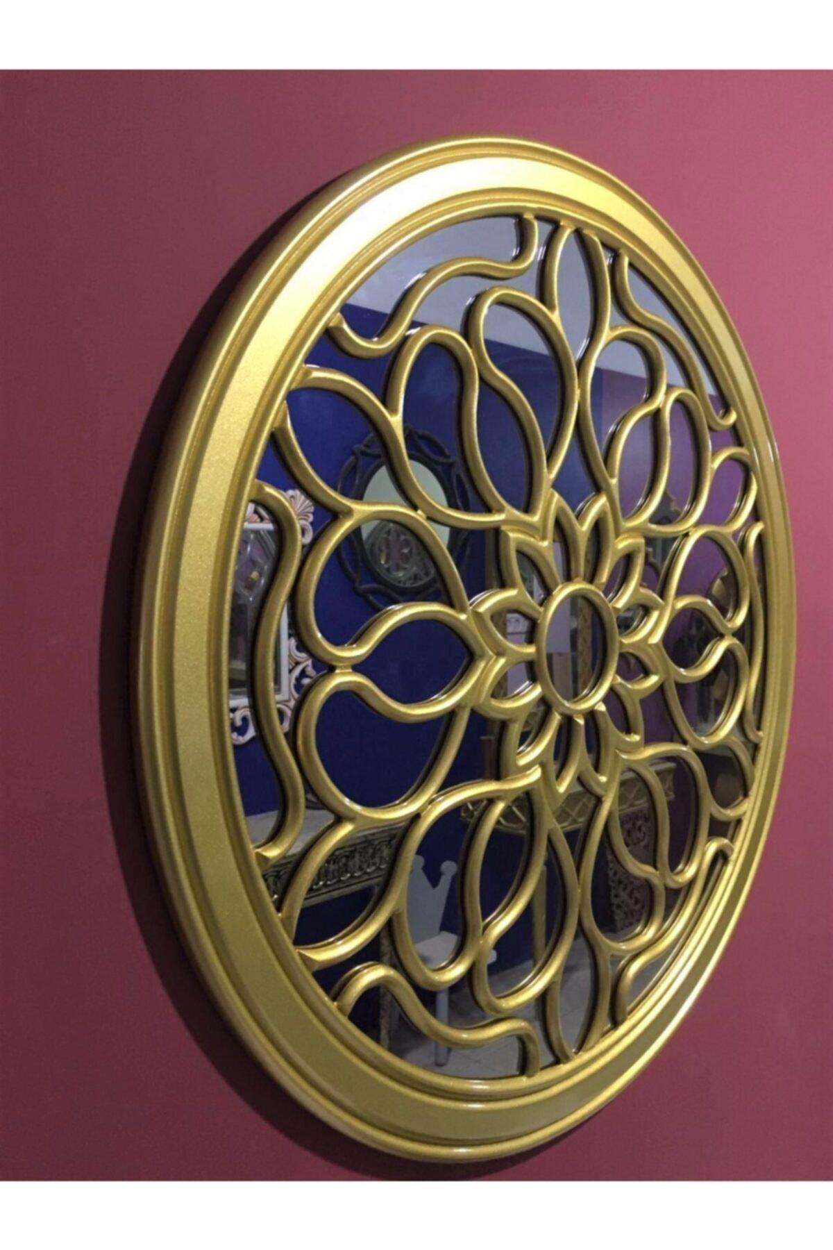 MSK mobilya dekorasyon Dekoratif Varaklı Işlemeli Duvar Aynası 1