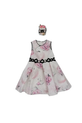 Pamina 18111 Kız Çocuk Abiye-balo Elbisesi, Saç Aksesuarlı, 6-10 Yaş