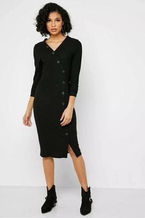 Only Bayan Uzun Kollu Önü Düğmeli Elbise 15186168