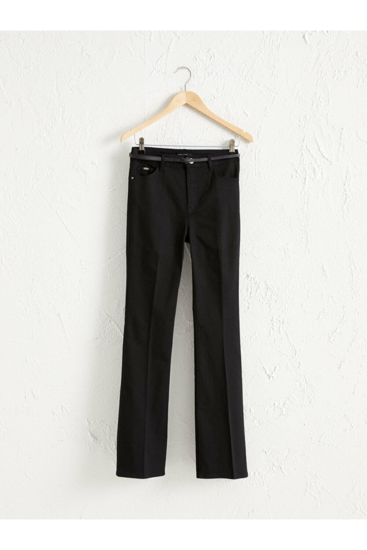 LC Waikiki Kadın Siyah  Pantolon 1
