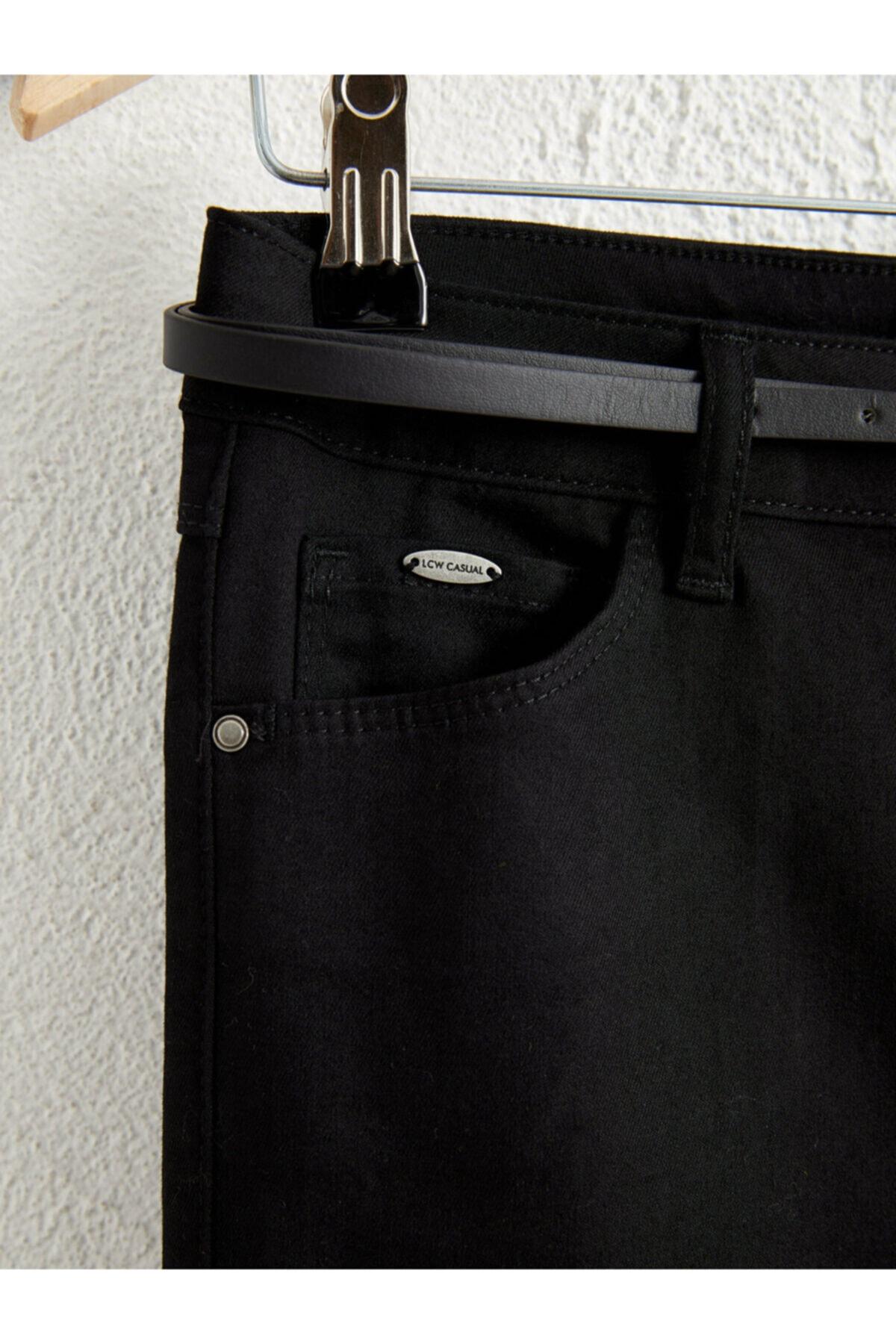 LC Waikiki Kadın Siyah  Pantolon 2
