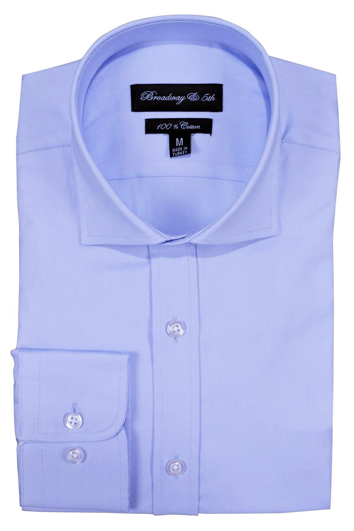 Ottomoda Broadway Premium Kalite Uzun Kollu Klasik Erkek Gömlek Sky 2