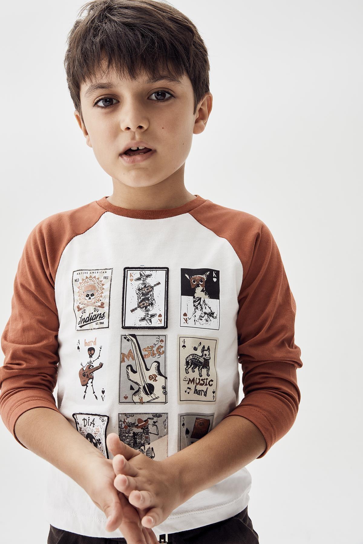 Nebbati Erkek Çocuk Ekru T-shirt 20fw0nb3516 1