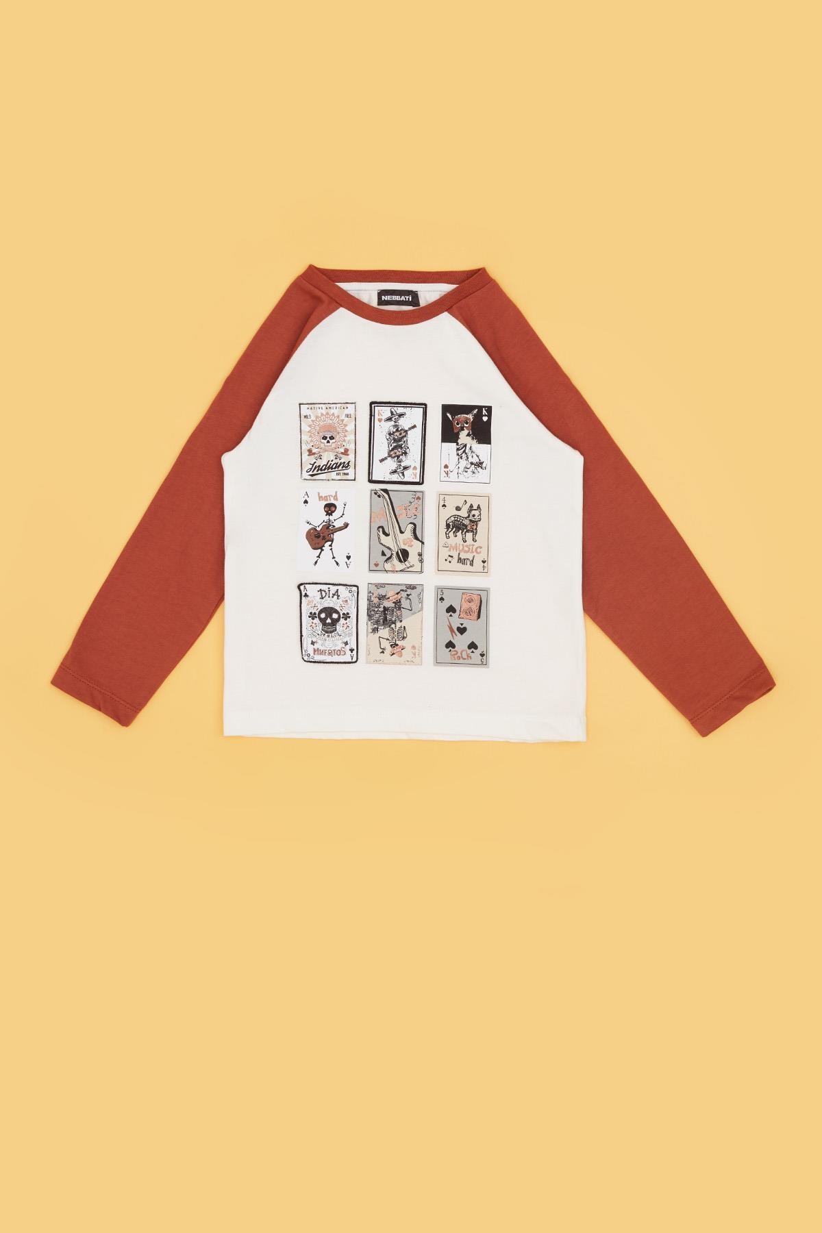 Nebbati Erkek Çocuk Ekru T-shirt 20fw0nb3516 2