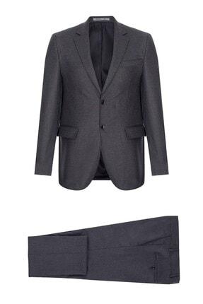 İgs Erkek Füme Regularfıt / Rahat Kalıp Std Takım Elbise