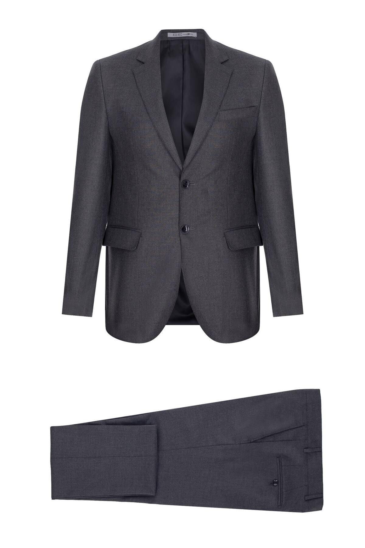 İgs Erkek Füme Regularfıt / Rahat Kalıp Std Takım Elbise 1