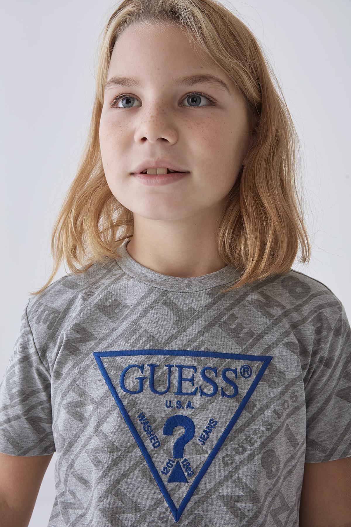 Guess Erkek Çocuk Gri T-shirt 20fwgl0yı03 2