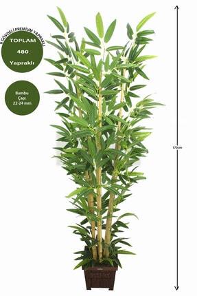 Yapay Çiçek Deposu Yapay Bambu Ağacı Premium Kalite 170cm 6 Gövdeli