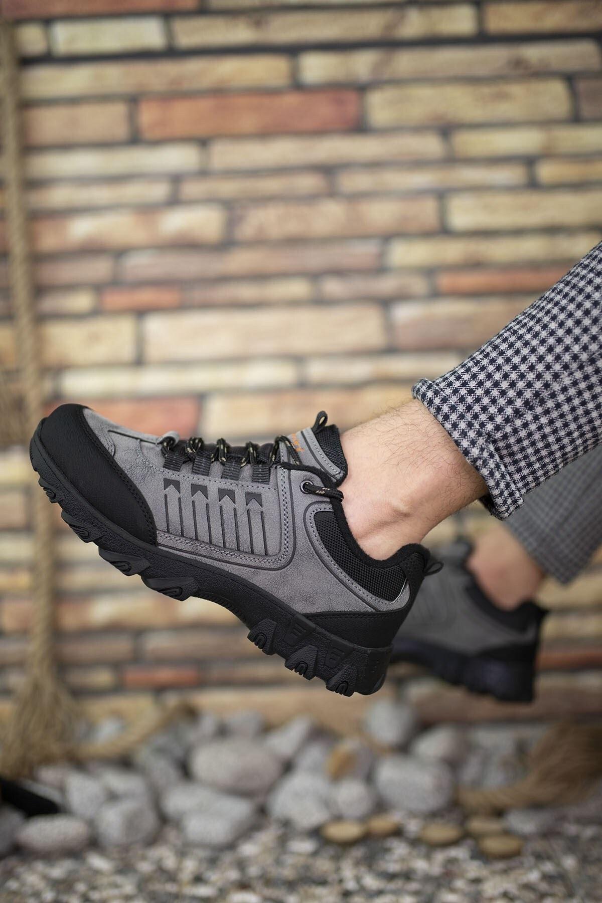 Riccon Füme Siyah Erkek Trekking Ayakkabı 00121180 2