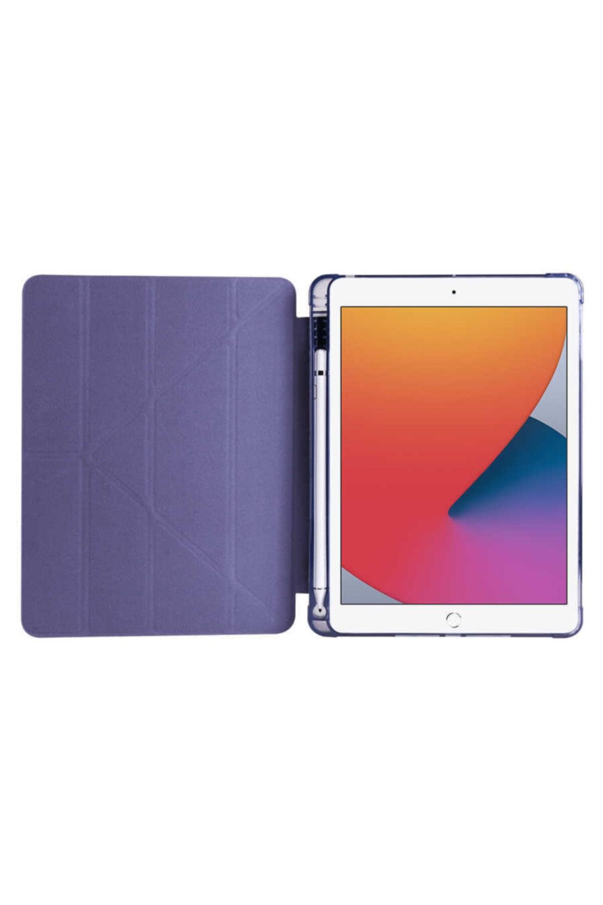 carına vannı Apple Ipad 9.7 2018 Uyumlu Mavi Kalem Bölmeli Katlanabilir Tablet Kılıfı,standlı Kılıf Pnd 2