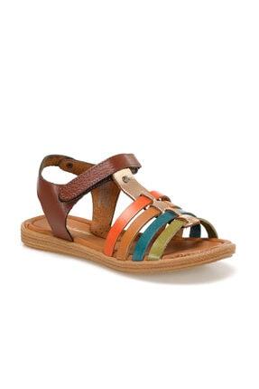 Polaris 91.510032.f Kahverengi Kız Çocuk Deri Sandalet 100368991