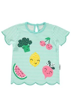Kujju Kız Bebek Tişört 6-18 Ay Mint Yeşili