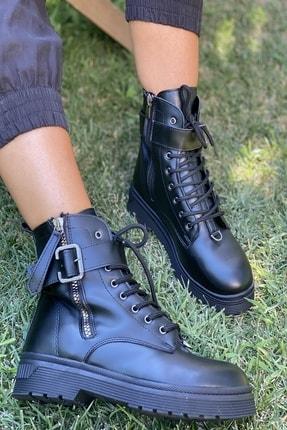 İnan Ayakkabı BAYAN SİYAH TOKALI BOT&BOOTİE&POSTAL KY7215