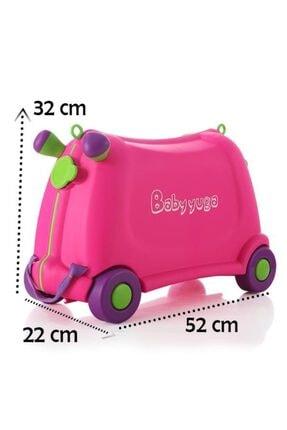 Temel Baby Yuga Tekerlekli Çocuk Valizi Pembe
