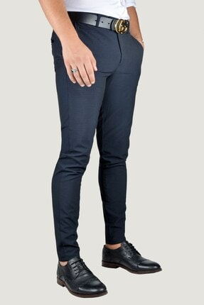 Terapi Men Erkek Lacivert Keten Pantolon 9Y-2200196-008