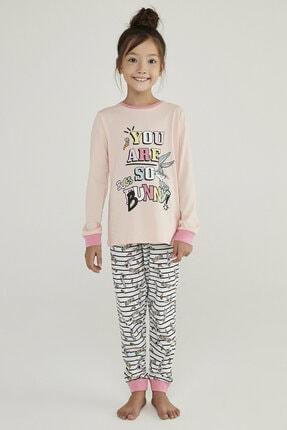 Penti Çok Renkli Kız Çocuk Bugs Bunny 2li Pijama Takımı
