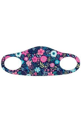 Noon Collection Kadın Pembe Baskılı Maske