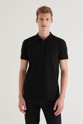 Avva Erkek Siyah Polo Yaka Düz T-shirt A11b1146