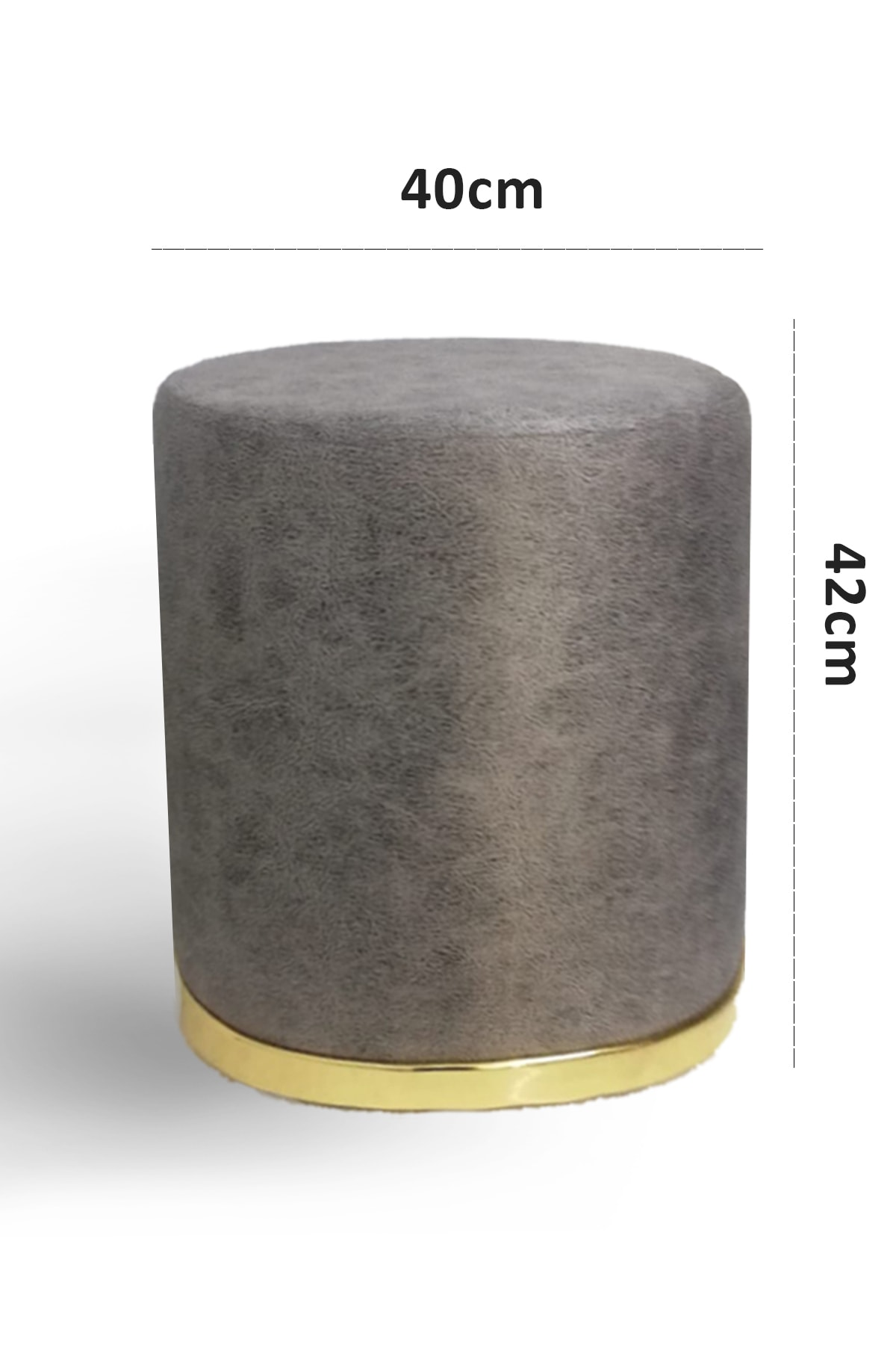 Zem Nora Silinebilir Puf - Grey Gold 2