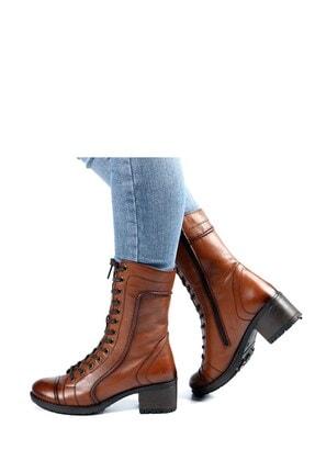 Hammer Jack Kadın Kahverengi 2979 Z Hakiki Deri Topuklu Bot