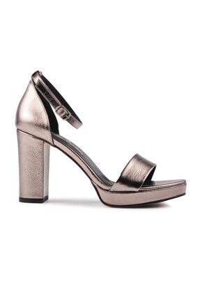 Pierre Cardin Kadın Parlak Platin Topuklu Ayakkabı Pc 50167