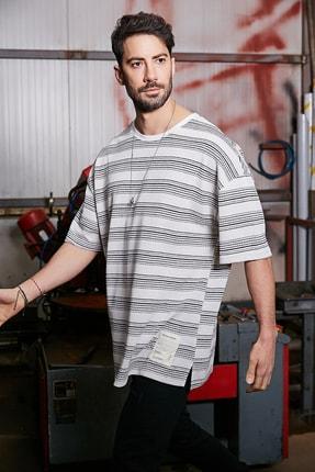Sateen Men Erkek Ekru Ince Triko T-Shirt