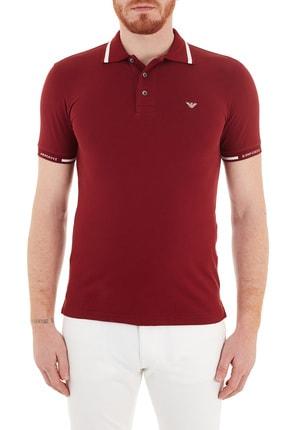 Emporio Armani Erkek Bordo Pamuklu Düğmeli Polo Yaka T-shirt S 6h1ff5 1jptz 0353