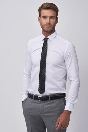 ALTINYILDIZ CLASSICS Erkek Beyaz Beyaz Ütü Gerektirmeyen Non-Iron Tailored Slim Fit Gömlek