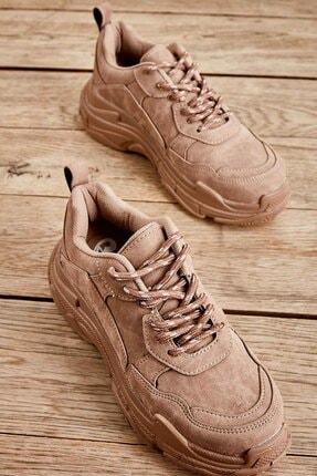 Bambi Toprak Nubuk Kadın Sneaker K01591007271