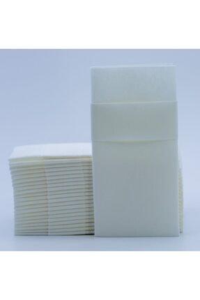 AIRLAID Beyaz Kumaş Dokulu Cepli Peçete 40x40 1/8 50'li Paket