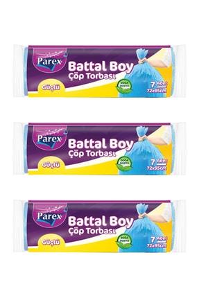 Parex Güçlü Çöp Torbası Battal Boy 3' Lü Paket