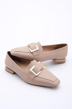 Marjin Kadın Bej Loafer Ayakkabı Kelar