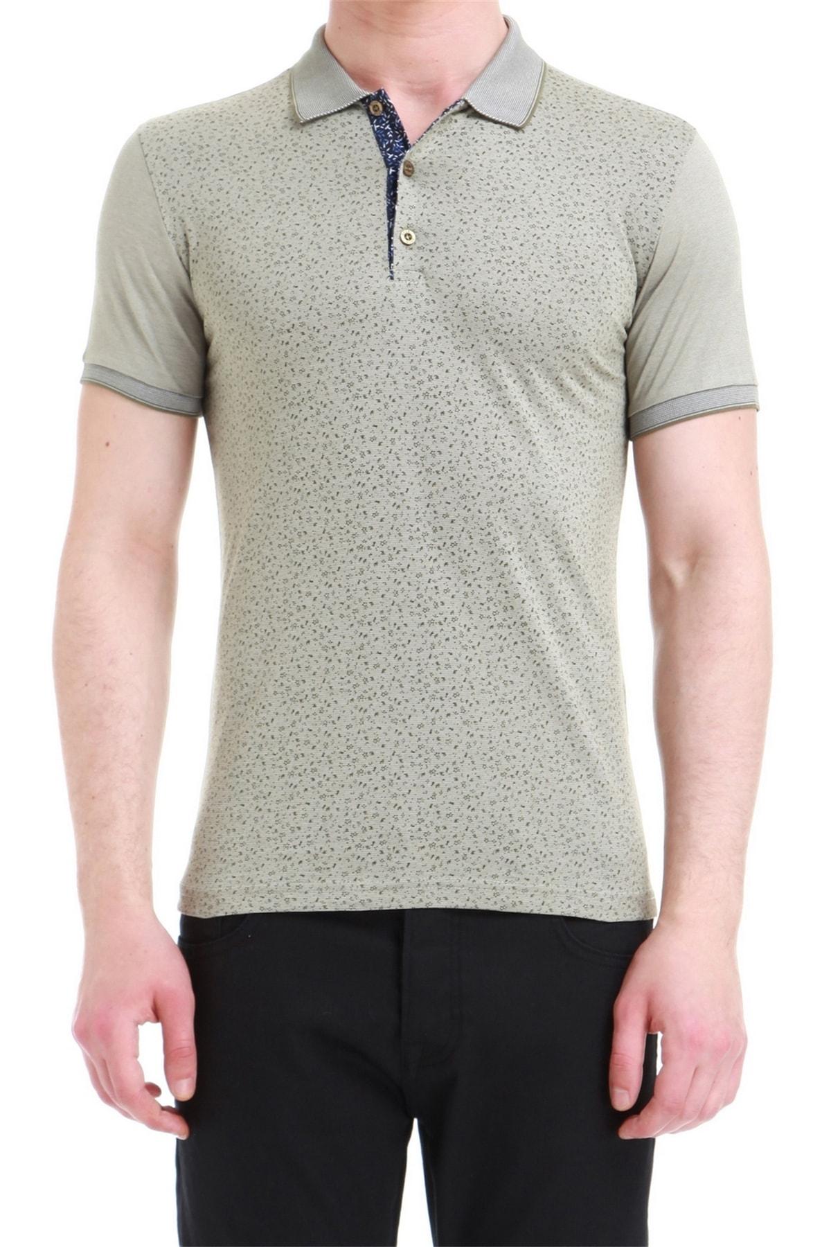Efor Ts 736 Slim Fit Haki Spor T-shirt 1