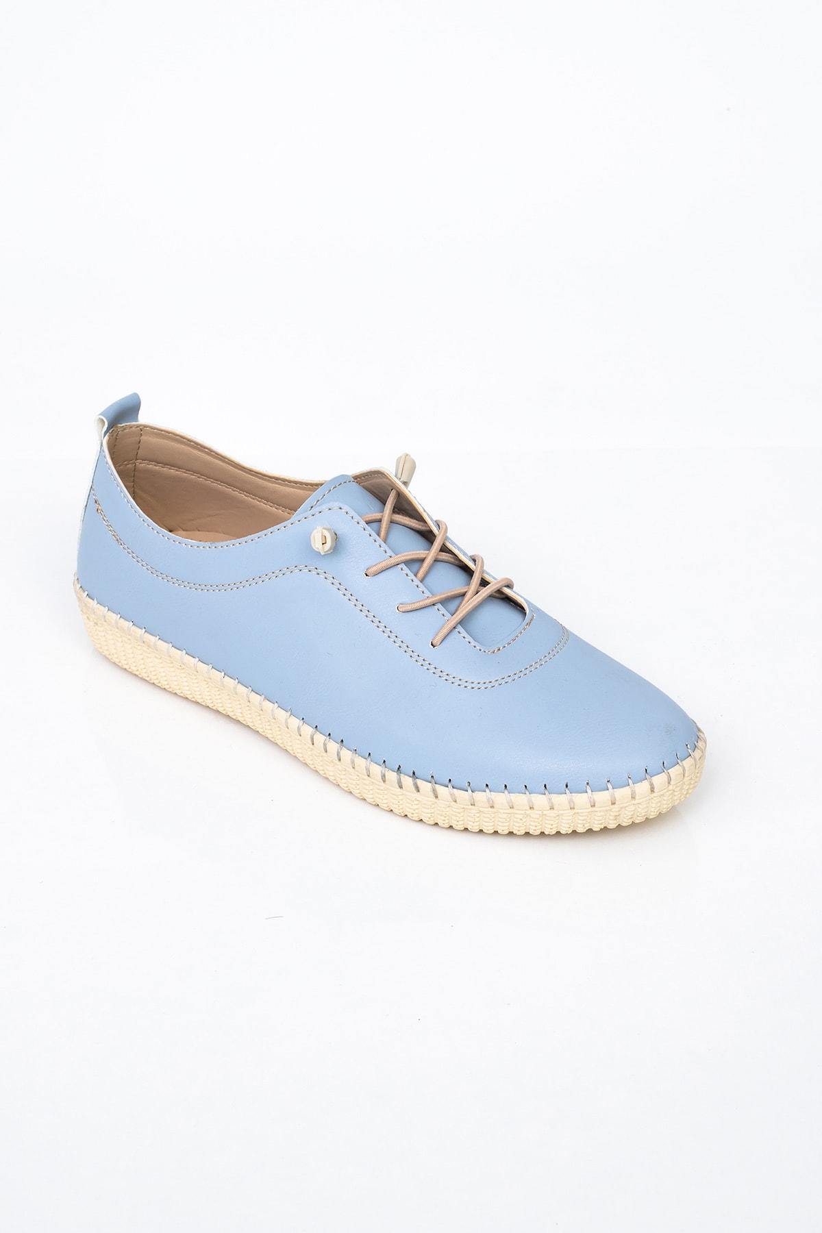 MelikaWalker Comfort Ve Ortopedik Bayan D. Mavisi Günlük Rahat Lastik Bağcıklı Hava Alabilen Bayan Ayakkabı 2
